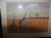 tableau animaux : les girafes